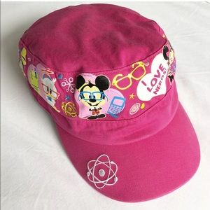 Disney Embroidered I LOVE NERDS Pink Youth Hat